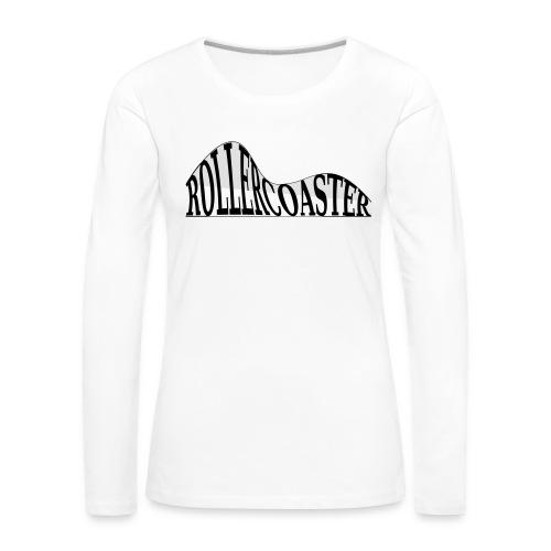 envelope_coaster - Dame premium T-shirt med lange ærmer
