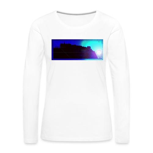 Silhouette of Edinburgh Castle - Women's Premium Longsleeve Shirt