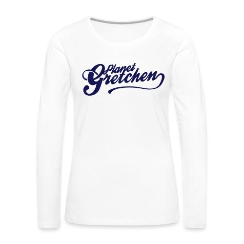 Planet Gretchen svart - Långärmad premium-T-shirt dam