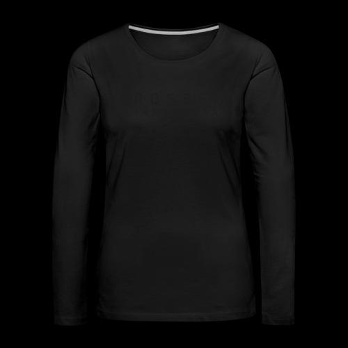 CrossFit Järvenpää mustateksti - Naisten premium pitkähihainen t-paita
