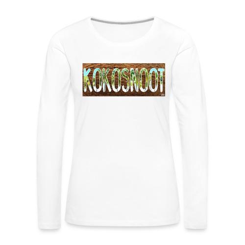 Kokosnoot - Vrouwen Premium shirt met lange mouwen
