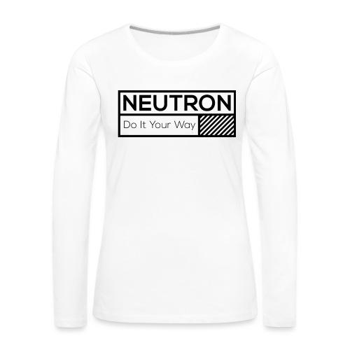 Neutron Vintage-Label - Frauen Premium Langarmshirt