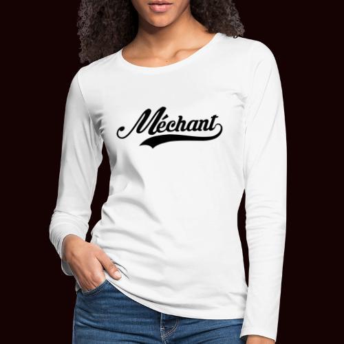 mechant_logo - T-shirt manches longues Premium Femme