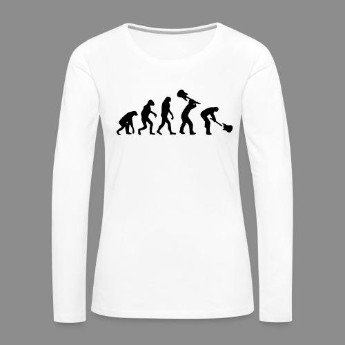 Evolution Rock - Camiseta de manga larga premium mujer