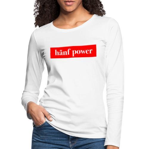 Hanf Power RED - Frauen Premium Langarmshirt
