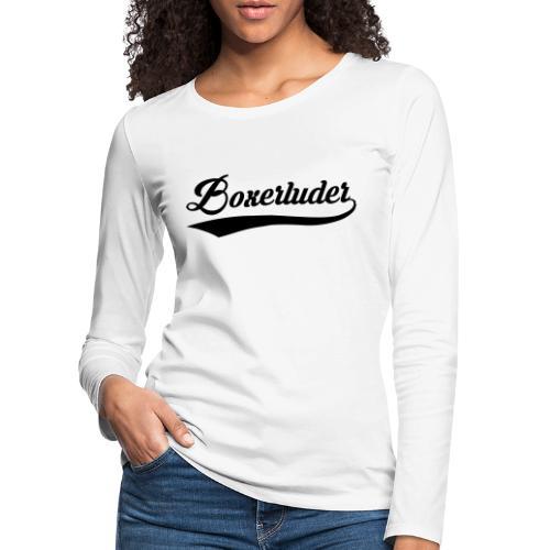 Motorrad Fahrer Shirt Boxerluder - Frauen Premium Langarmshirt