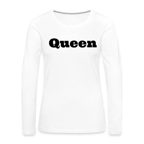 Snapback queen rood/zwart - Vrouwen Premium shirt met lange mouwen