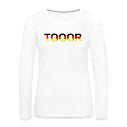 TOOOR-Schatten-transparen - Frauen Premium Langarmshirt