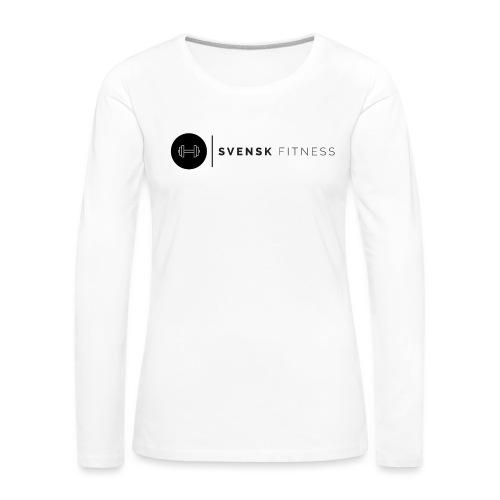 Linne med vertikal logo - Långärmad premium-T-shirt dam