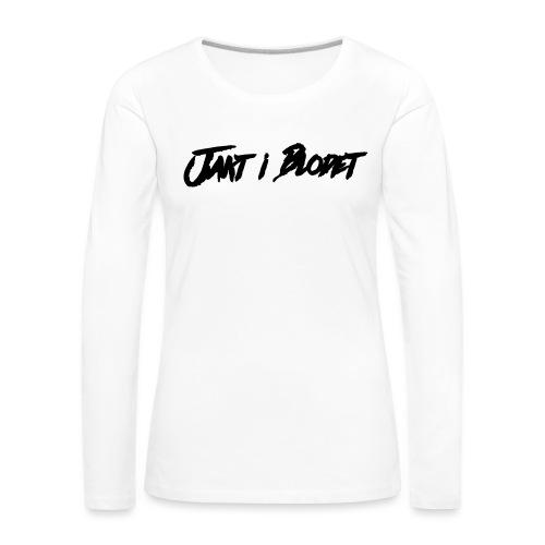 Svart vit mössa. jakt i blodet - Långärmad premium-T-shirt dam