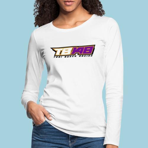 Tobi Logo schwarz - Frauen Premium Langarmshirt