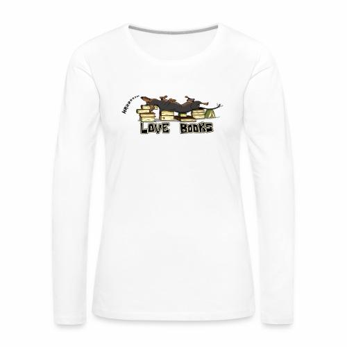 Love books - Koszulka damska Premium z długim rękawem