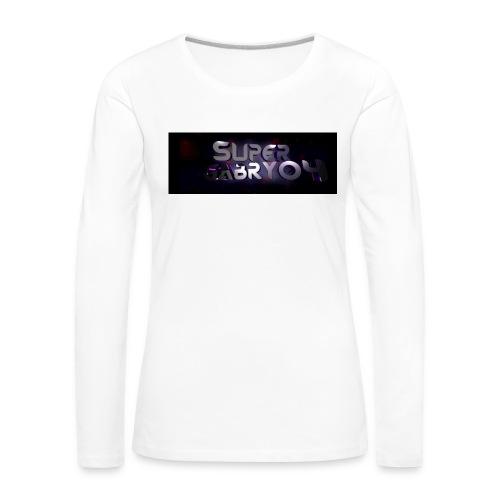 SUPERGABRY04 - Maglietta Premium a manica lunga da donna