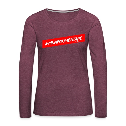 MENFOUMENTAPE Hashtag by Alice Kara - T-shirt manches longues Premium Femme