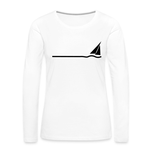 Regatta 3 (monochrom) - Frauen Premium Langarmshirt