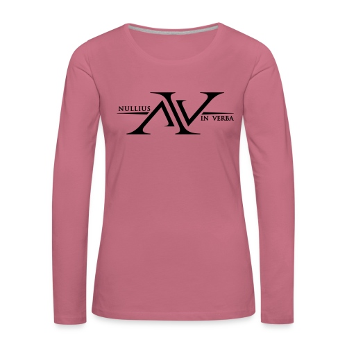 Nullius In Verba Logo - Women's Premium Longsleeve Shirt