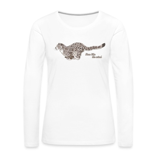 Snow Leopard: Run Like the Wind - Koszulka damska Premium z długim rękawem