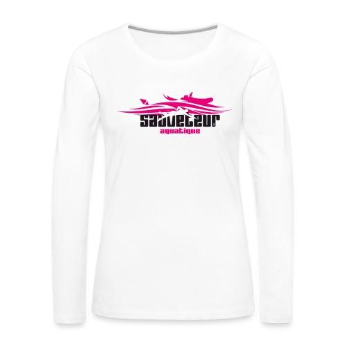 sauveteur aquatique - T-shirt manches longues Premium Femme