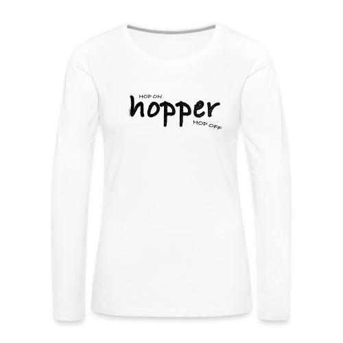MuchoHop Hop On/Off (black) - Camiseta de manga larga premium mujer