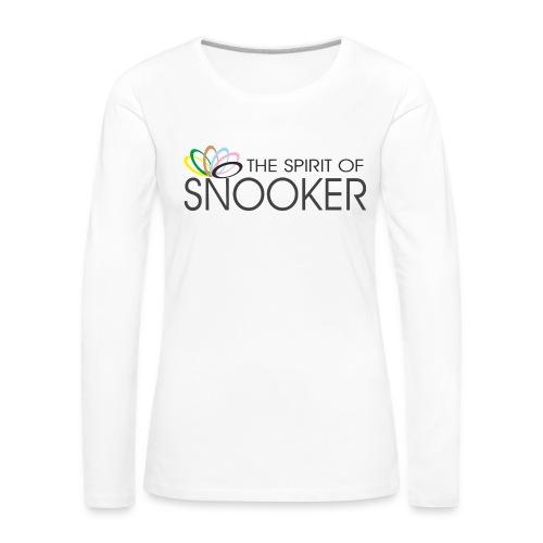 spirit of snooker - Frauen Premium Langarmshirt