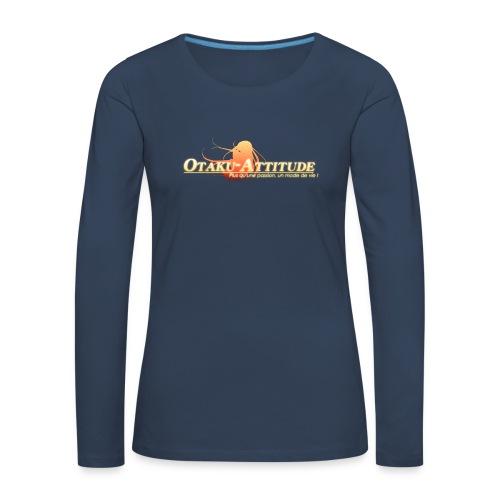 logo oa v3 v1 fond clair - T-shirt manches longues Premium Femme