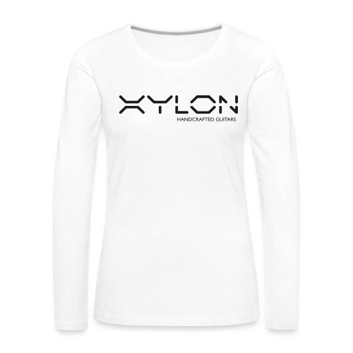 Xylon Handcrafted Guitars (plain logo in black) - Women's Premium Longsleeve Shirt