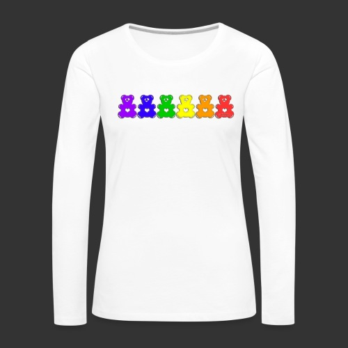 Bärenlust Regenbogen Bären-Reihe - Frauen Premium Langarmshirt