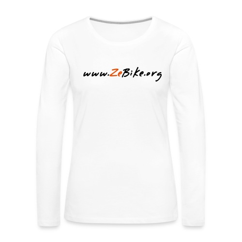 wwwzebikeorg s - T-shirt manches longues Premium Femme