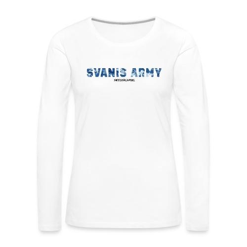 SVANIS ARMY, SWEDISHGAMING - Långärmad premium-T-shirt dam