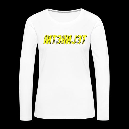 Internjet transparent - Naisten premium pitkähihainen t-paita