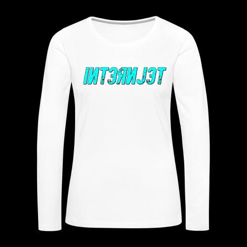 Internjet cyan - Naisten premium pitkähihainen t-paita