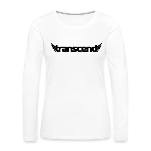 Transcend Mug - Black Print - Women's Premium Longsleeve Shirt
