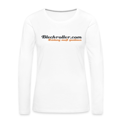 blechroller logo - Frauen Premium Langarmshirt
