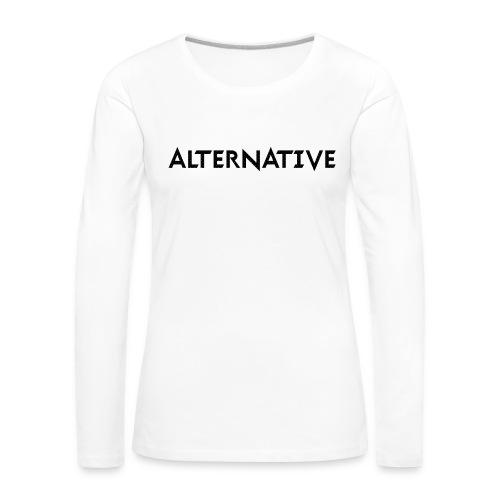 Im Hoodie White - Koszulka damska Premium z długim rękawem