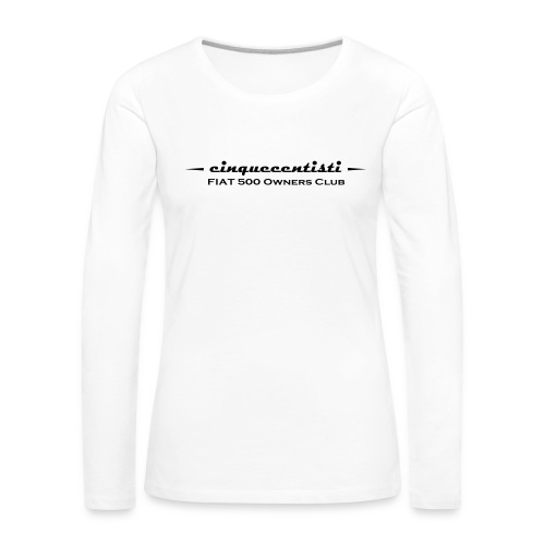 Cinquecentisti 500 Owners Club Vector - Maglietta Premium a manica lunga da donna