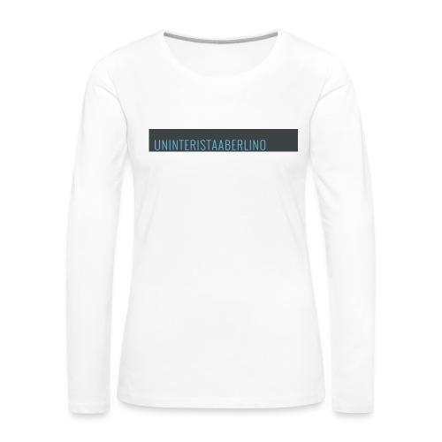 blogge-png - Maglietta Premium a manica lunga da donna