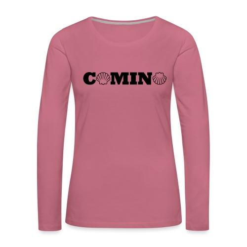 Camino - Dame premium T-shirt med lange ærmer