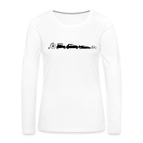 evolution of vechicles - Vrouwen Premium shirt met lange mouwen