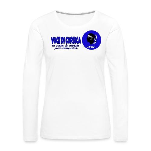 Voce di Corsica logo 1 - T-shirt manches longues Premium Femme