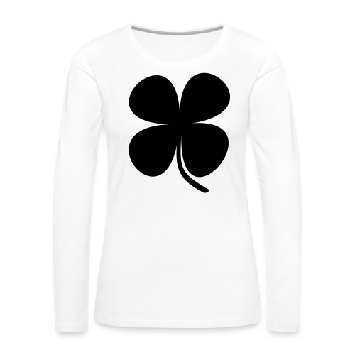 CLOVER - Camiseta de manga larga premium mujer