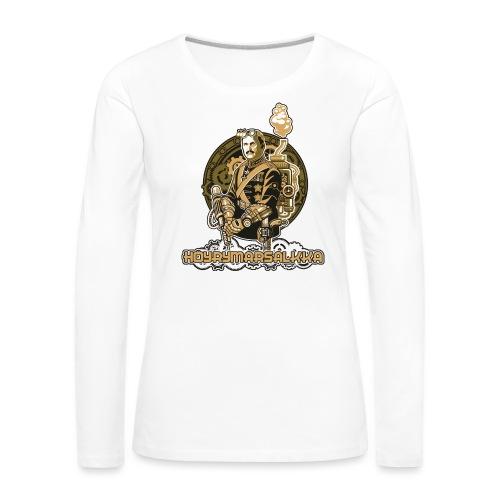 Höyrymarsalkan upea kangaskassi - Naisten premium pitkähihainen t-paita