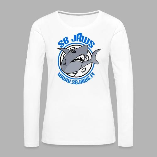 SB JAWS - Naisten premium pitkähihainen t-paita