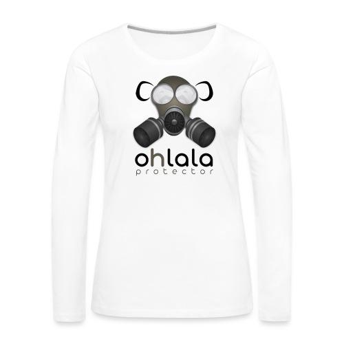 OHLALA PROTECTOR BLK - T-shirt manches longues Premium Femme