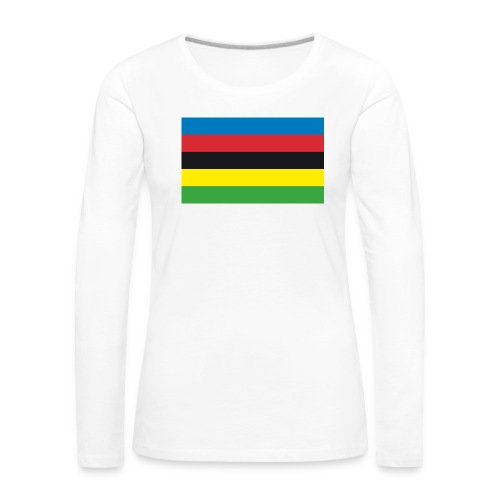 Cycling_World_Champion_Rainbow_Stripes-png - Vrouwen Premium shirt met lange mouwen