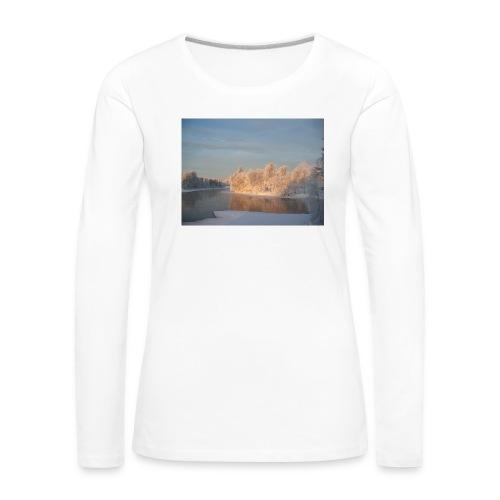 Suomen talvi - Naisten premium pitkähihainen t-paita