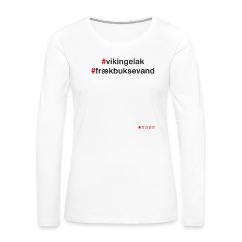 Hashtag - Dame premium T-shirt med lange ærmer