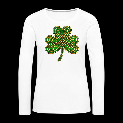 Celtic Knotwork Shamrock - Women's Premium Longsleeve Shirt