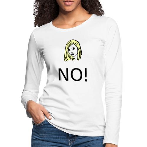 #NO tshirt - Maglietta Premium a manica lunga da donna
