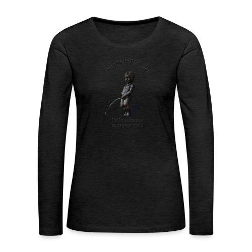BXL ♀♂   mannekenpis - T-shirt manches longues Premium Femme