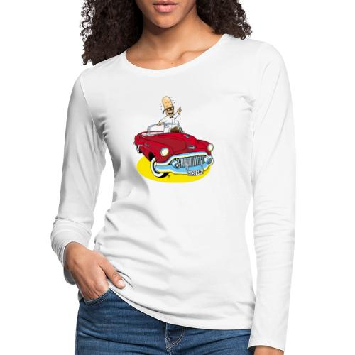Herr Bohnemann im Buick - Frauen Premium Langarmshirt